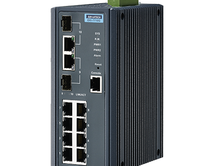 8GE+2G Combo Managed Ethernet Switch, -40~75℃