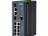 8GE PoE and 2G Combo Managed Ethernet Switch, IEEE802.3af/at, 24~48VDC