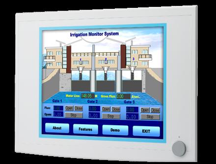 17″ SXGA Industrial Monitors with Resistive Touchscreens, Direct-VGA, and DVI Ports